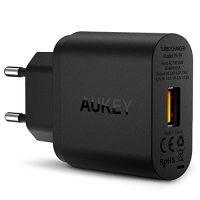 AUKEY-Quick-Charge-30-Cargador-de-Red-18W-Qualcomm-Certificado-para-iPhone-7-7-Plus-Samsung-Galaxy-Note-7-S6-Edge-Plus-Note-5-Note-4-Nexus-6-Samsung-con-Cable-Micro-USB-Negro-0-0