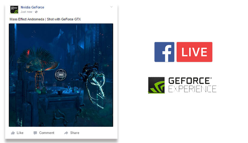 Streaming de contenidos de Realidad Virtual en Facebook Live para usuarios de Nvidia